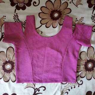 Preloved crop top cold shoulder