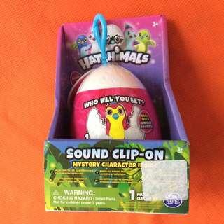 "Hatchimals 3.5"" Sound Plush Clip-On Surprise"