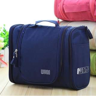Travel Cosmetic Bag Multipurpose Toiletries For Women And For Men (Blue)