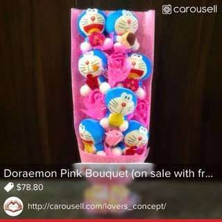 Doraemon pink bouquet