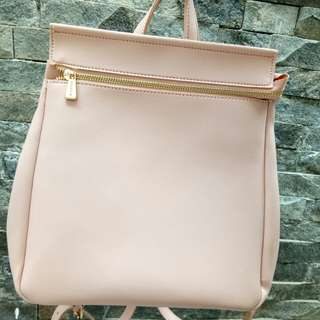 Miniso backpack peach/pink second like new