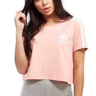 Adidas Pink Crop Tee
