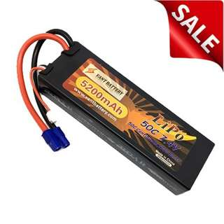 Vant Battery 5200mAh 7.4V 50C Hardcase Lipo w EC3 - In Stock Now!!