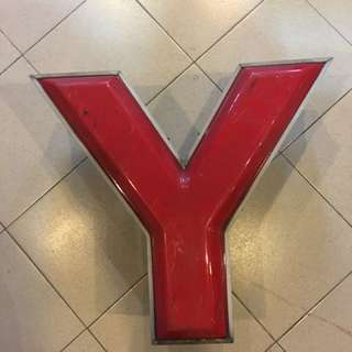 "Alphabet ""Y"" light box"