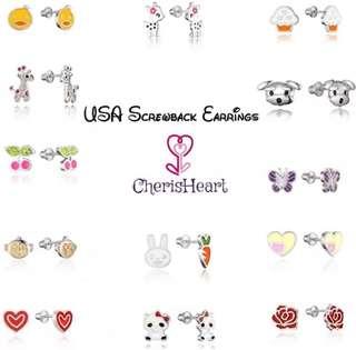 Baby children Earrings USA screwback