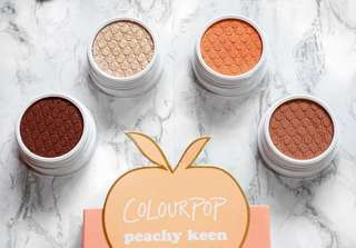 ColourPop Foursome Peachy Keen Eye Shadows set