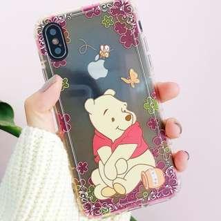 手機殼IPhone6/7/8/plus/X : Winniethepooh維尼熊漸變