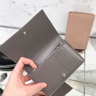 Ysl Flap Fragment Wallet - Grey