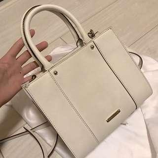 Rebecca minkoff M.A.B mini tote 白色防刮皮斜背包手提包✨✨