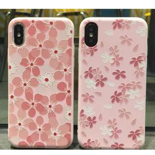 手機殼IPhone6/7/8/plus/X : 簡約花朵葉子