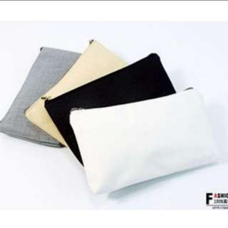 Instocks Plain Canvas Pouch