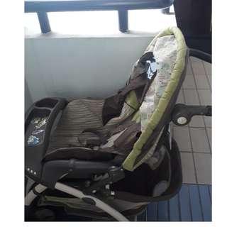 Graco Baby Pram with car seat