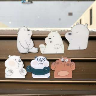 We Bare Bears Acrylic Badges‼️5 FREE 1‼️