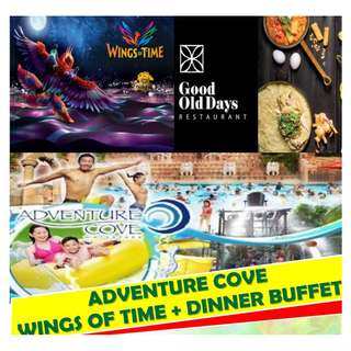 ADVENTURE COVE +WINGS OF TIME + DINNER BUFFET
