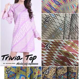 Trivia top long sleeve batik
