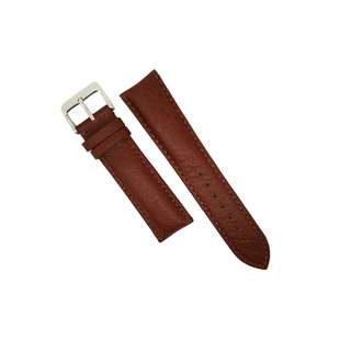 Genuine Distressed Leather Watch Strap in Brown with Brown Stitching