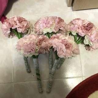 婚禮姊妹手棒花 絲花 粉紅色 婚禮物品 婚後物資 姊妹裙