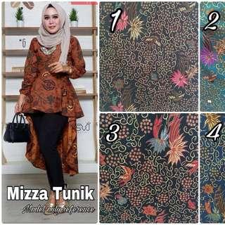 Mizza tunik batik high low long sleeve