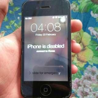 locked Iphone 4s