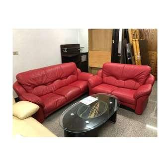【172二手傢俱】B080二手3+2紅色沙發組,中古3+2紅色沙發組,二手家具,中古家具