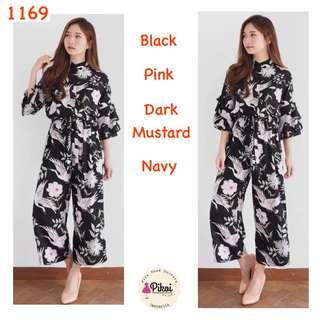 Jumpsuit panjang / playsuit korea / jumpsuit murah / bunga / floral / 1169
