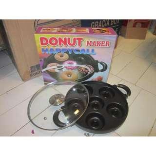 Teflon Mini Donut Maker Baking Pan Wajan Cetakan Kue Donat 6 Lubang