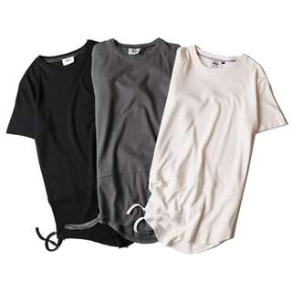 Longline Short Sleeve Tee with side frails