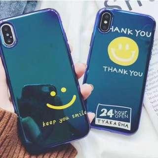 手機殼IPhone6/7/8/plus/X : 簡約笑臉THANKYOU