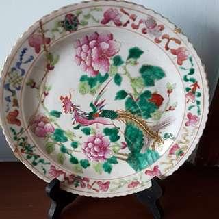 Vintage Peranakan Phoenix Plate