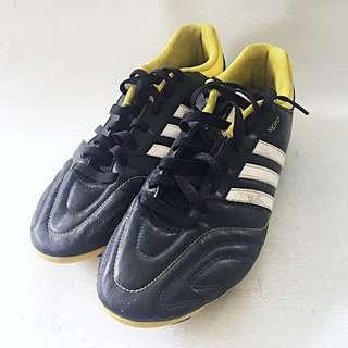 ADIDAS 11QUESTRA Men's Black Yellow Soccer Cleats CLI037001 US 11 1/2 UK11 EUC