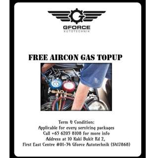 FREE AIRCOND GAS TOPUP