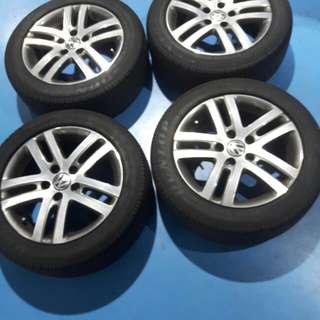 VW STOCK RIMS 16 inch x 5 with tires