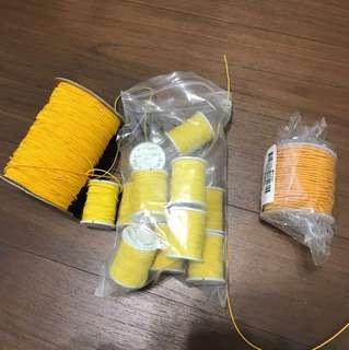 Yellow elastic band