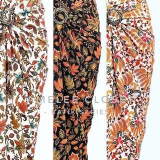 Batik Wrap Maxi Skirt