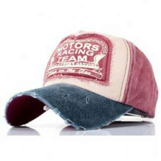 Topi Baseball Snapback Motors Racing Team - Pink