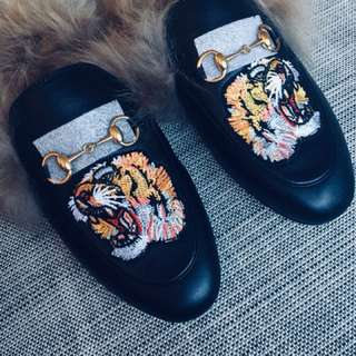 Embroidered Tiger Loafer, Size 40