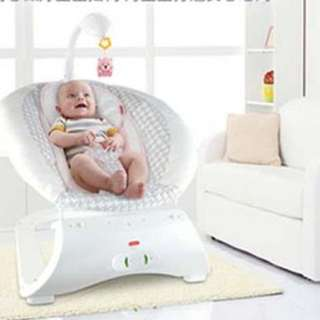 Baby rocking chair with soothing vibration, music