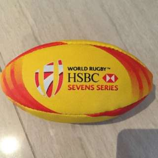 HSBC World Rugby Seven Series - Rugby ball decorations  - around 15cm length