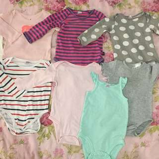 Baby Rompers Brand Baby Gap, Bonds, Miki, H&M, Carter's,
