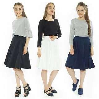 joanne flare skirt black