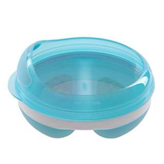 OXO Tot Divided Feeding Dish with Removable Ring and Storage Lid - Aqua/Green