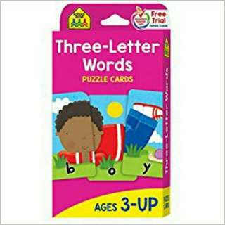 Three words puzzle cards