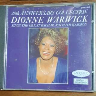 Dionne Warwick Sings The Great Bacharach & David Songs CD