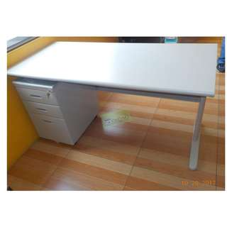 OFFICE TABLE SET (WITH MOBILE PEDESTAL CABINET)