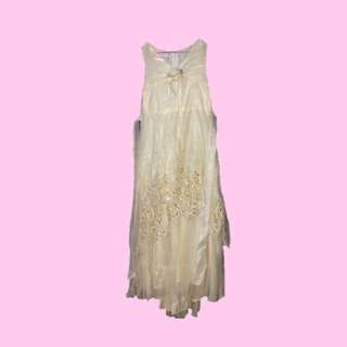 Cream White Gown for kids