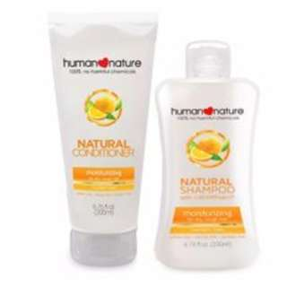 Human Nature Natural Moisturizing Shampoo and Conditioner in Lush Vanilla 200ml