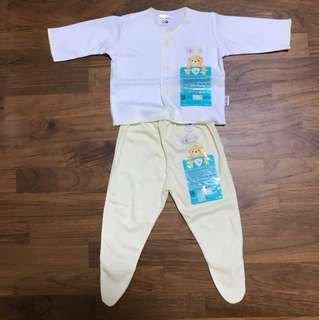 Newborn Long-Sleeve Top and Covered-Toe Long Pants