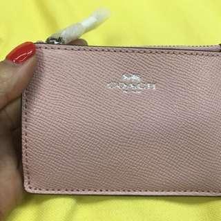 Coach F12186 淺粉紅色ID case