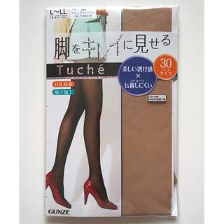 日本製 GUNZE 郡是 Tuche 30針透明感防走線防UV絲襪褲 THW230  L~LL