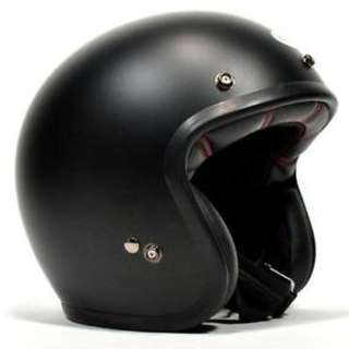 Bell Custom 500 Helmet Solid Matte Black SIZE MEDIUM ONLY Adult Open Face Helmet Style Street Helmet